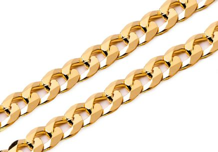 Goldkette voll Curb 4 mm