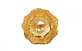 Damen Goldring Flower 1