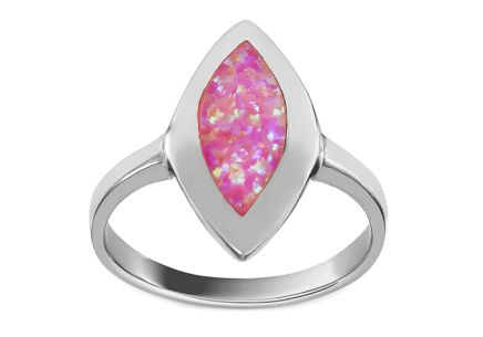 Silberring mit rosa Opal
