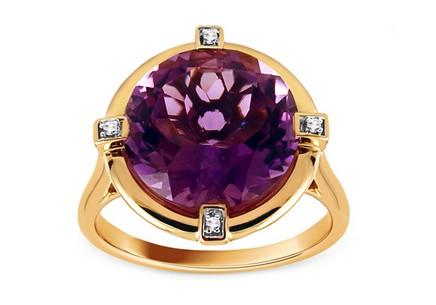 Amethyst Ring mit Diamanten 0,020 ct Lizabeth