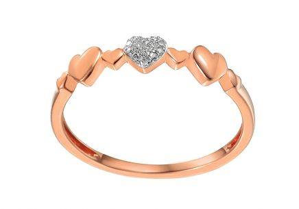 Brillant Ring aus der Kollektion Diamond Heart