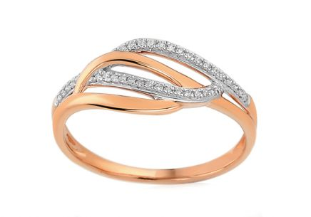 Brillant Ring aus Roségold 0,080 ct