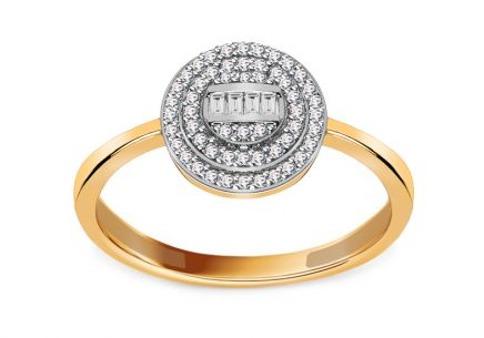 Brillant Ring mit Baguette Diamanten
