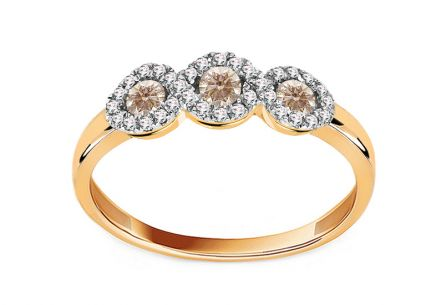 Brillant Ring mit Champagner Diamanten aus der Kollektion Victoria