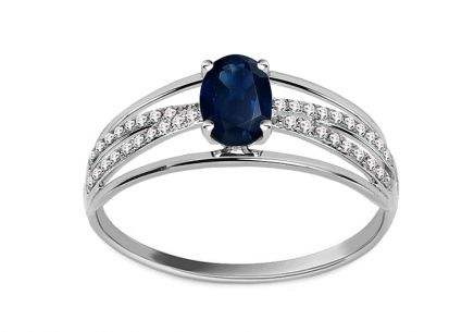 Brillant Ring mit Saphir aus der Kollektion Night sky