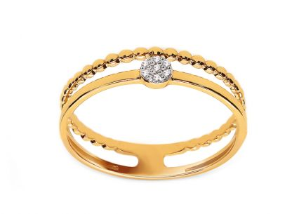 Goldring mit Brillanten 0,020 ct