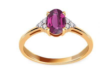 Granat Ring mit Brillanten