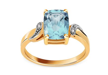Topas Ring mit Brillanten aus der Kollektion Lilly Topaz
