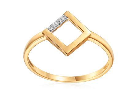 Brillant Goldring 0,010 ct Quadrat