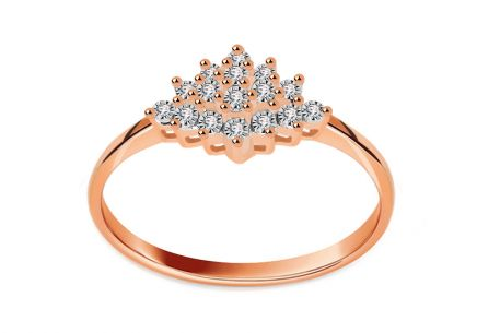 Brillant Ring aus Roségold 0,050 ct