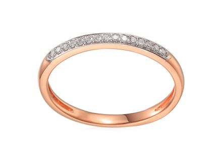 Brillant Ring aus Roségold 0,070 ct