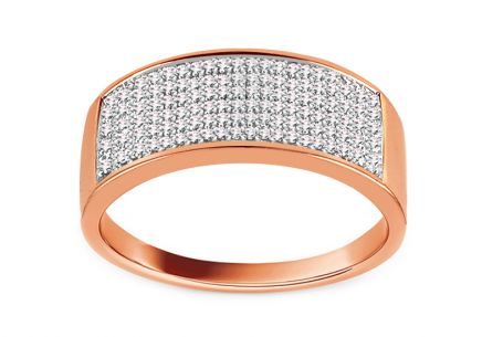 Diamant Ring aus Roségold 0,240 ct Ottavia