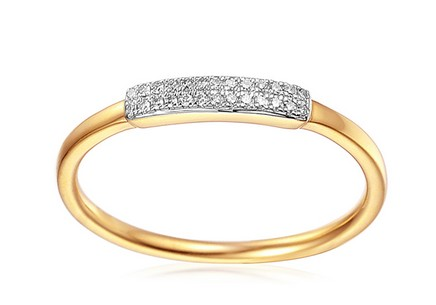Goldring mit Diamanten 0,060 ct Atria