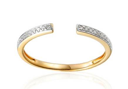 Goldring mit Diamanten 0,060 ct Mardie