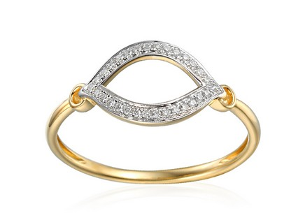 Goldring mit Diamanten 0,070 ct Fevia