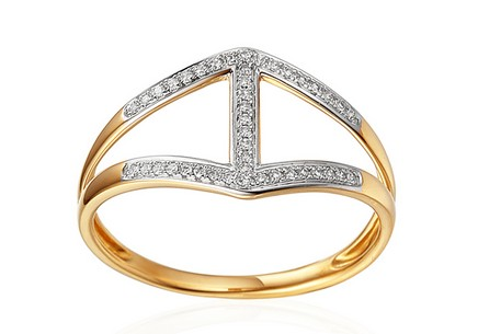 Goldring mit Diamanten 0,100 ct Amelia
