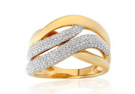 Goldring mit Diamanten 0,420 ct Ambra