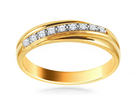 Goldring mit Diamanten Tamiris