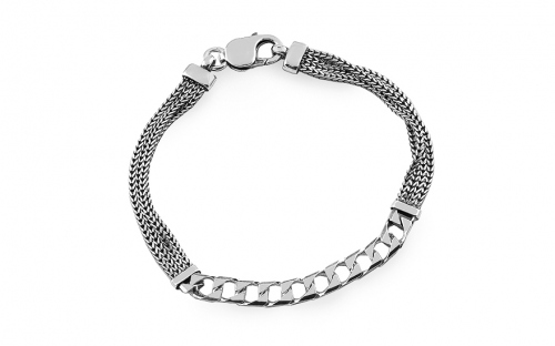 Stilvolles Silberarmband 7,3 mm - IS3857