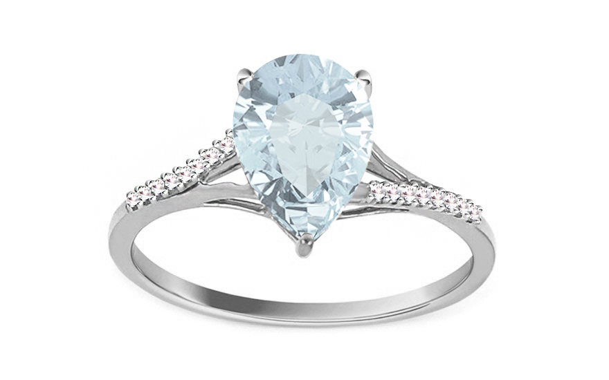 Topas Ring mit Diamanten 0,060 ct BREA - KU0024