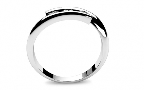 Verlobungsring mit Diamanten 0,210 ct Lines Of Love 4