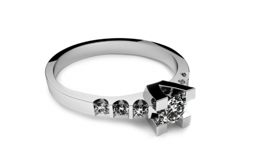 Verlobungsring mit Diamanten 0,370 ct Key To Heart 6