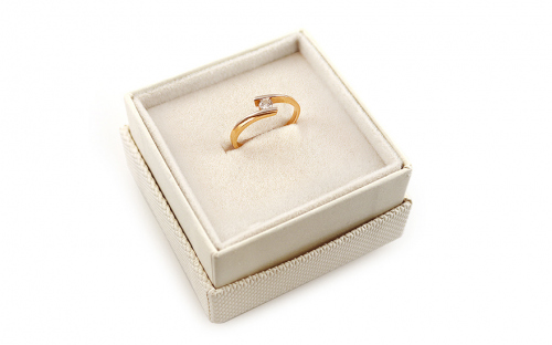 Verlobungsring mit Diamanten Combination of Love 0,130 ct