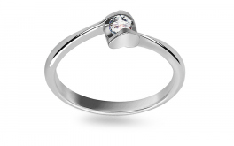 Verlobungsring mit Diamanten 0,130 ct Specially Heart white