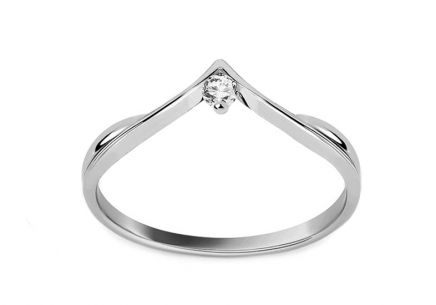 Verlobungsring In Love mit Diamanten 0,040 ct white