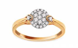 Gold Verlobungsring mit Diamanten 0,210 ct Daley
