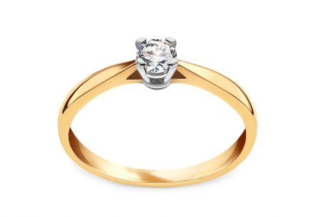 Gold Verlobungsring mit einem Diamanten 0,150 ct Royal Heart 3