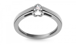Verlobungsring mit Diamanten Little Heart 0,150 ct