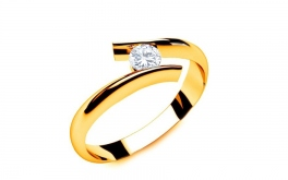 Verlobungsring mit Diamanten 0,090 Lines Of Love 5 Yellow