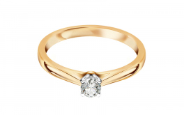 Verlobungsring mit Diamanten 0,160 ct Estelle Middle