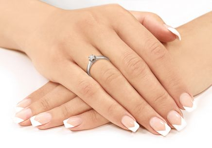 Verlobungsring mit Diamanten NELA middle 0,170 ct white