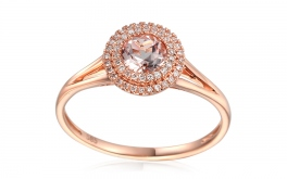 Morganit Ring mit Diamanten Hayli