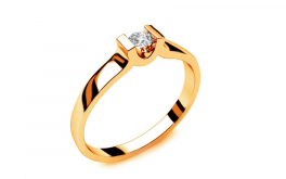 Verlobungsring mit Diamanten 0,090 ct Power Of Love 1 Yellow