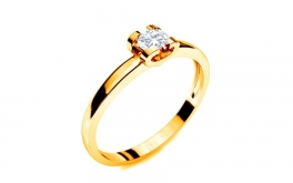 Verlobungsring mit Diamanten 0,090 ct Power Of Love 11 Yellow