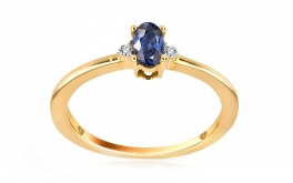 Saphir-Ring mit Diamanten 0,020 ct Jeyne 8