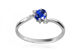 Diamantring Victorian blue Sweet 0,020 ct