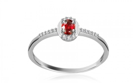 Diamantring Victorian red Glory 0,045 ct