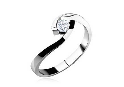 Verlobungsring mit Diamanten 0,100 ct Lines of love 1