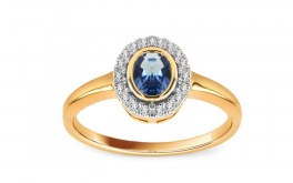 Tansanit Ring mit Diamanten 0,070 ct Taena 1